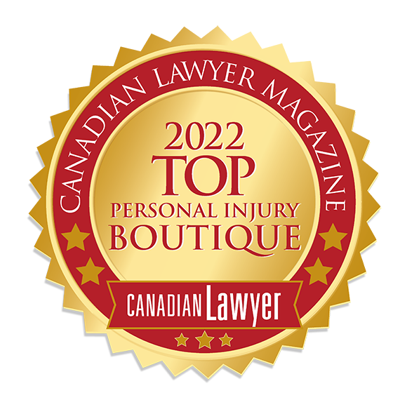 Canadian Lawyer Magazine Award for Top 10 Personal Injury Boutique Law Firm in Ontario