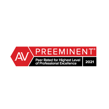 Martindale-Hubbell Peer Rated Award, 2021